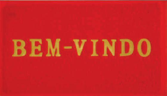 TAPETE PVC 40X60CM 580G VERMELHO BEM VINDO