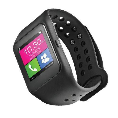 Relógio Smartwatch Multilaser Sw1 Bluetooth Preto Whatsapp