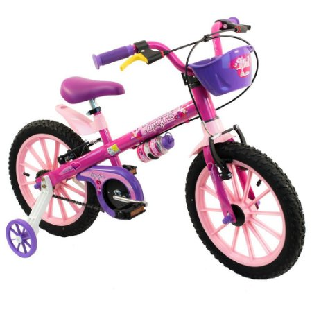 21538 BICICLETA NATHOR A 16  TOP GIRLS PINK ROSA