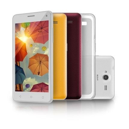 Smartphone MS50 Branco Colors QuadCore Dual Cam 8MP + 5MP 16GB Android Lollipop 5