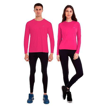 Kit de Camisetas com Proteção UV50 Outubro Rosa Km10 Sports