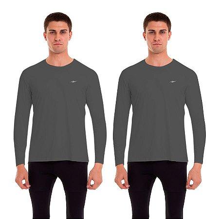Kit 2 Camisetas Masculinas com Proteção UV50 Km10 Sports