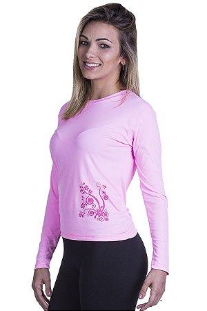 Camiseta Feminina Proteção UV Flowers