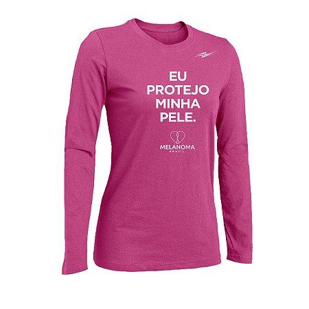 Camiseta Feminina Proteção UV Melanoma