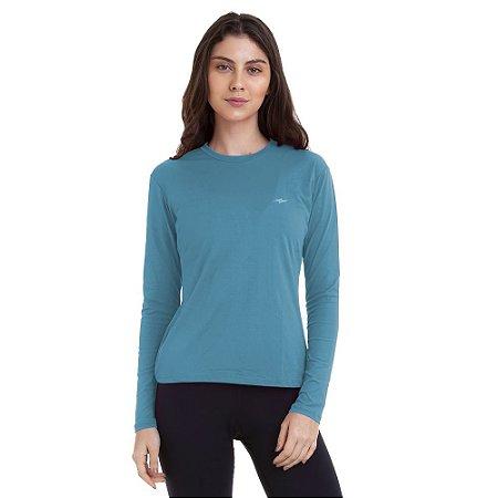 Camiseta Feminina Proteção UV50 Ilhota Km10 Sports