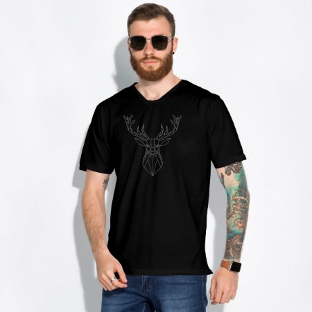 T-Shirt Masculina Hipster Moose Km10 Sports
