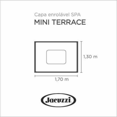 Capa Spa Enrolável Mini Spa Terrace Jacuzzi