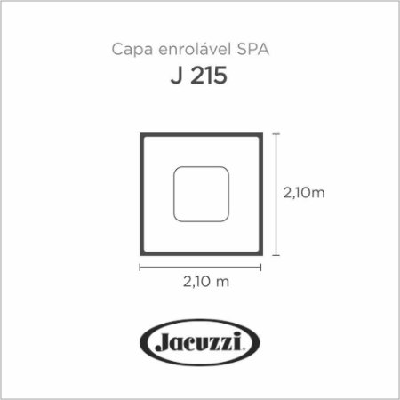 Capa Spa Enrolável Spa J215 Jacuzzi