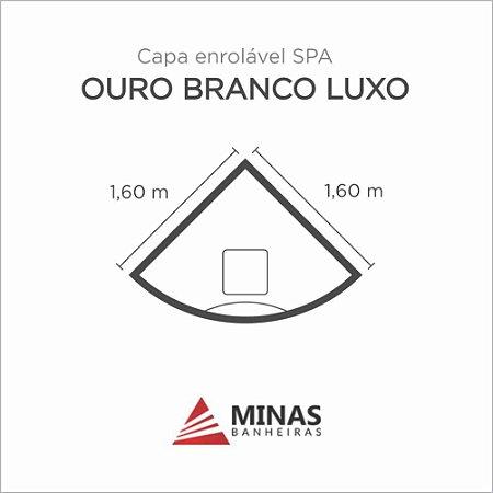 Capa Spa Enrolável Banheira Ouro Branco Luxo Minas Banheiras
