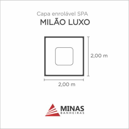 Capa Spa Enrolável Spa Milao Luxo Minas Banheiras