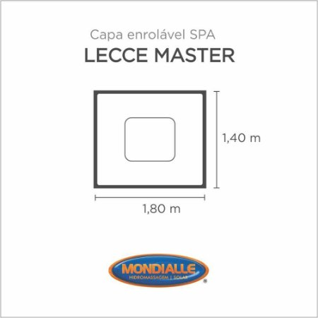 Capa Spa Enrolável Banheira Lecce Master Mondialle