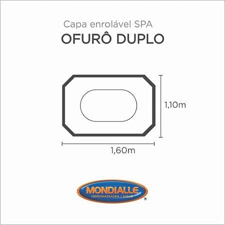 Capa Spa Enrolável Banheira Ofuro Duplo Mondialle