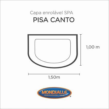 Capa Spa Enrolável Banheira Pisa Canto Mondialle