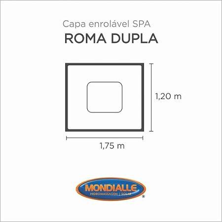 Capa Spa Enrolável Banheira Roma Dupla Mondialle