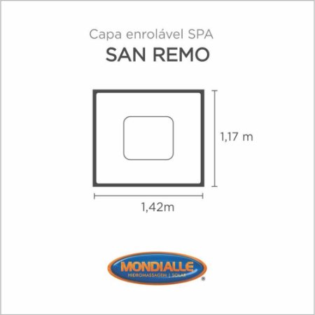 Capa Spa Enrolável Banheira San Remo Mondialle