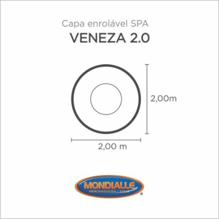 Capa Spa Enrolável Spa Veneza Redonda 2.0 Mondialle
