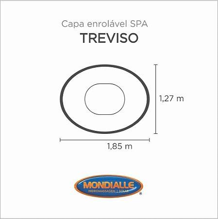 Capa Spa Enrolável Banheira Treviso Mondialle