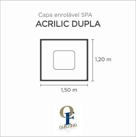 Capa Spa Enrolável Banheira Acrillic Dupla Ouro Fino