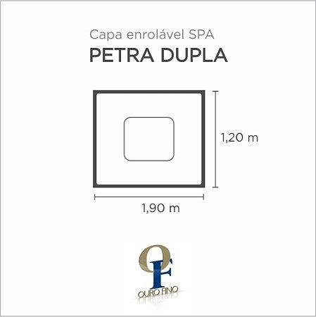 Capa Spa Enrolável Banheira Petra Dupla Ouro Fino