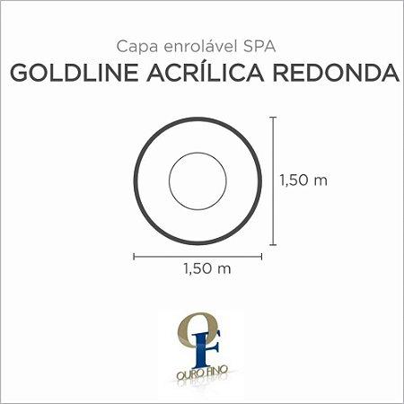 Capa Spa Enrolável Banheira Goldline Acrílica Redonda Ouro Fino