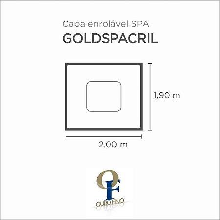 Capa Spa Enrolável Spa Goldspacril Retangular Ouro Fino
