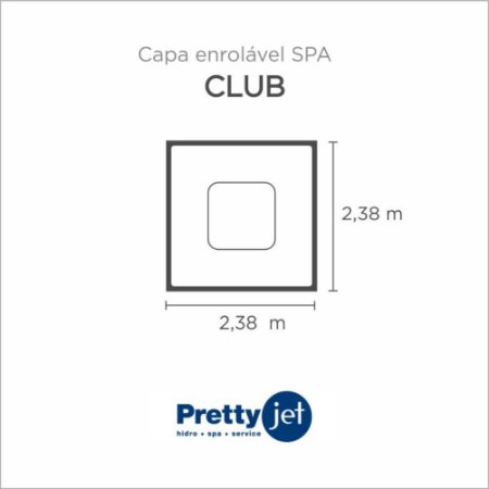 Capa Spa Enrolável Spa Club Pretty Jet