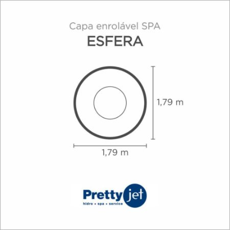 Capa Spa Enrolável Spa Esfera Pretty Jet