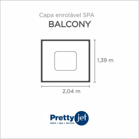 Capa Spa Enrolável Spa Balcony Pretty Jet