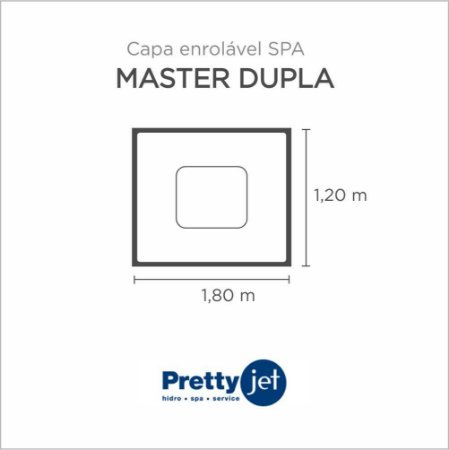Capa Spa Enrolável Banheira Master Dupla Pretty Jet