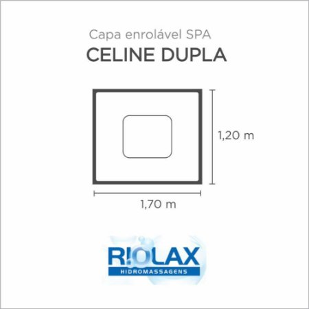 Capa Spa Enrolável Banheira Celine Dupla Riolax