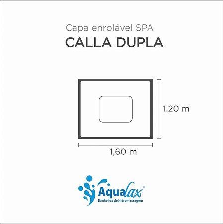 Capa Spa Enrolável Banheira Calla Dupla Aqualax