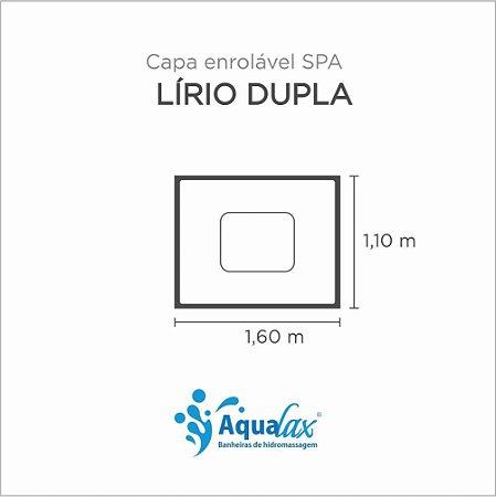 Capa Spa Enrolável Banheira Lirio Duplo Aqualax