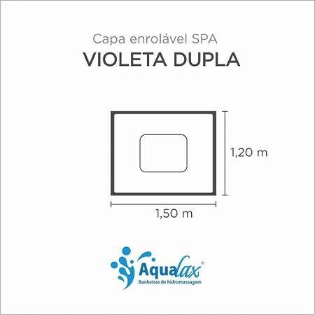 Capa Spa Enrolável Banheira Violeta Dupla Aqualax