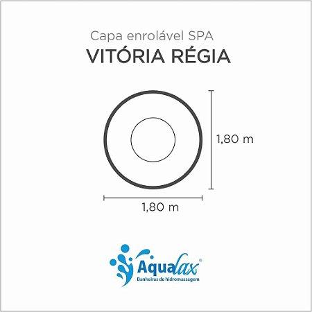 Capa Spa Enrolável Banheira Vitória Régia Aqualax