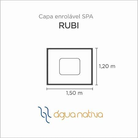 Capa Spa Enrolável Banheira Rubi Agua Nativa
