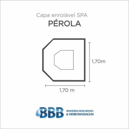 Capa Spa Enrolável Spa Perola Bom Banho