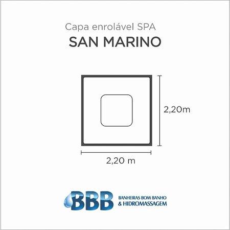 Capa Spa Enrolável Spa Quadrado San Marino Bom Banho