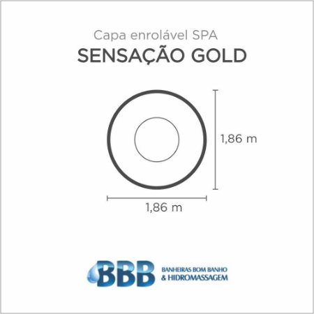 Capa Spa Enrolável Spa Sencacao Gold Bom Banho