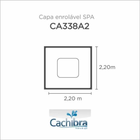 Capa Spa Enrolável Spa Modelo Ca338A2 Cachibra