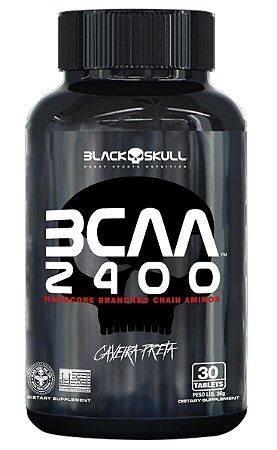 BCAA 2400 Caveira Preta Black Skull - 30 tabletes