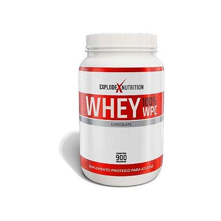Whey 100% Concentrado Explode Nutrition 900g