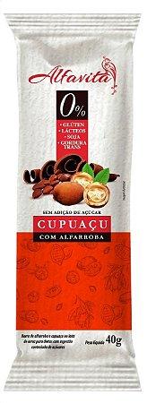 BARRA DE CUPUAÇU COM ALFARROBA - DISPLAY COM 20 UNIDADES DE 40g - ALFAVITA
