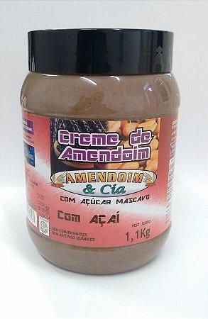 Creme de Amendoim com Açaí com Mascavo - 1,1Kg