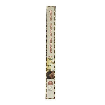 Canudo de Cera- Vela de Ouvido - Embalagem com 2 unidades