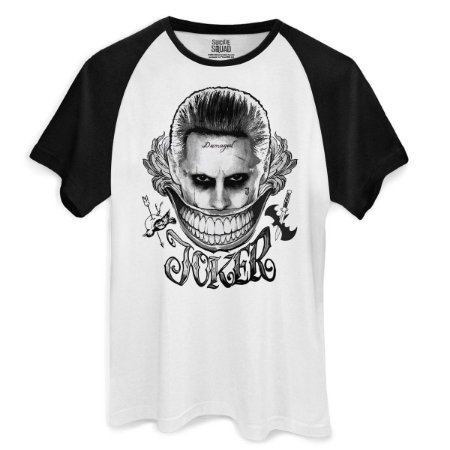 Camiseta Esquadrão Suicída Joker Damaged - BandUP!