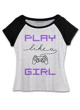Camiseta Gamer BDPlayer Play Like a Girl - BandUP