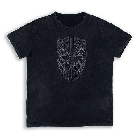 Camiseta Marvel Pantera Negra Máscara - Studio Geek