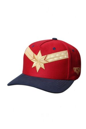 Boné Captain Marvel (Aba Curva) - Piticas