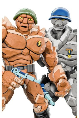 Traag and Granitor - TMNT - Series 4 - Neca
