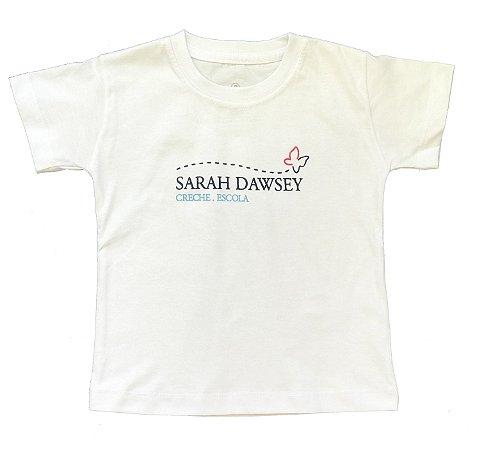 CAMISETA M/C  (ECOLÓGICA - 100% ALGODÃO ORGÂNICO ) - Educação Infantil Sarah